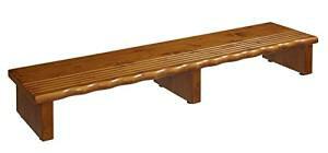クロシオ 天然木玄関台120 幅120cm高さ16.5cm 完成品 玄関踏み台 木製玄関台 【北海道・沖縄・離島への配送不可】