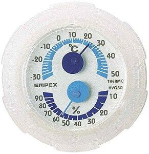 エンペックス (EMPEX) エンペックス気象計 温度湿度計 シュクレミニ温湿度計 日本製 クリアホワイト TM-2381
