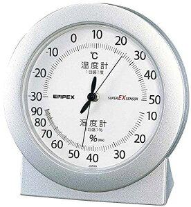 エンペックス (EMPEX) エンペックス気象計 温度湿度計 スーパーEX 高品質温湿度計 置き用 日本製 シャインシルバー EX-2767
