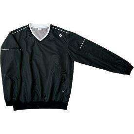 CONVERSE 6F Vネックウォームアップジャケット (CB162510S) [色 : ブラック] [サイズ : M]【smtb-s】