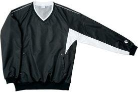 CONVERSE 6F Vネックウォームアップジャケット (CB162508S) [色 : ブラック/ホワイト] [サイズ : S]【smtb-s】