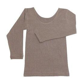 ラック産業 天然泥パックインナー 婦人8分袖シャツ ブラウン フリー