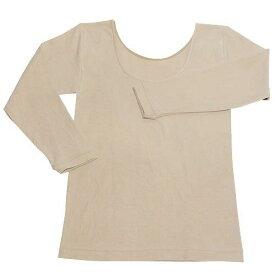 ラック産業 天然泥パックインナー 婦人8分袖シャツ ベージュ フリー