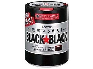 ロッテ ブラックブラック粒ワンプッシュボトル 140g【入数:6】【smtb-s】