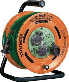 トラスコ中山 TRUSCO 屋外型コードリール30m 防雨型 ブレーカー 漏電防止付き code:7674601【smtb-s】