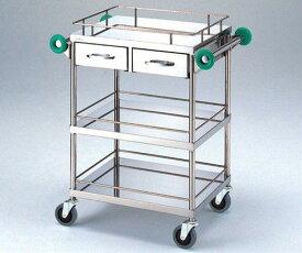 アズワン とっても静かな回診車(引出2個付き) TSC-600(3段引出付) 600(790)×450×850mmNCNN5-188020-1623-11