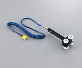 AS ONE PTFEローラー付温度センサー K熱電対 −50〜+200℃ 40×30×20mm3-6283-01【smtb-s】