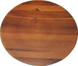 (丸和貿易)アカシア 丸トレー30cm  100380802