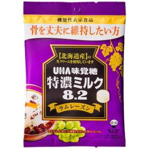 UHA味覚糖 特濃ミルク8.2ラムレーズン 93g【入数:6】【smtb-s】