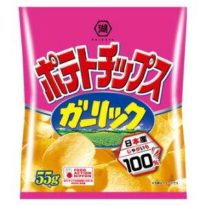 湖池屋 ポテトチップス ガーリック 55g【入数:12】