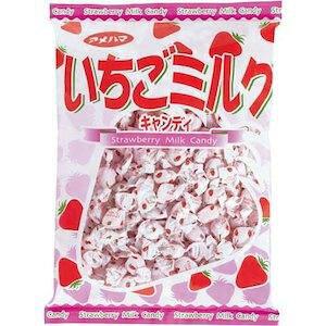 アメハマ製菓 いちごミルクメガパック 1kg【入数:10】【smtb-s】