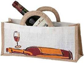 ファンヴィーノ 麻ワインバッグ1本用 横型 10個セット 7126 (1011861)【smtb-s】