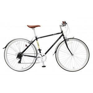 TOP ONE CLASSICAL 700Cクロスバイク シマノ外装7段ギア付 YCR7007-6D-BK (ブラック)【沖縄・離島への配送不可】【smtb-s】