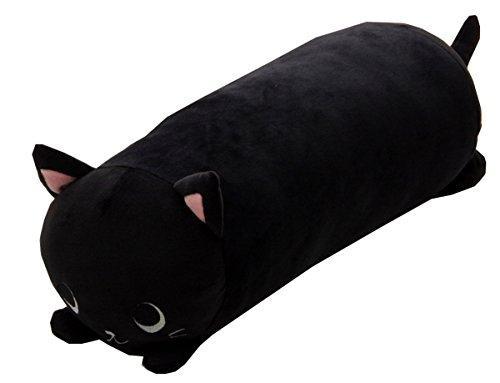 イケヒコ・コーポレーション 抱きまくら まくら 枕 クッション 動物 ねこ ネコ 猫 『ふわもち アニマル 抱き枕 黒猫』 ブラック 約20×57cm【smtb-s】