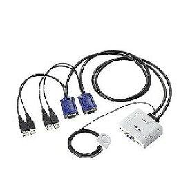 エレコム USB対応ケーブル一体型切替器 KVM-KUSN(KVM-KUSN)【smtb-s】