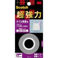 スリーエムジャパンスコッチ超強力両面テープタイル表面用12mm×1.5M(KST-12)