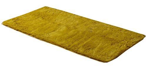 イケヒコ・コーポレーション ラグ カーペット 1畳 シャギー 無地 北欧 マイクロファイバー 『ミスティ—IT』 イエロー 約92×185cm (ホットカーペット対応)【smtb-s】