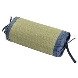 イケヒコ・コーポレーション(IKEHIKO) 国産無染土い草使用 『デニム素肌草 角枕』 約30×15cm(中材:い草チップ)【smtb-s】