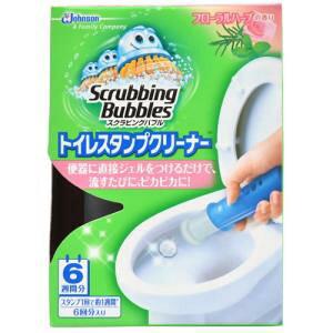 ジョンソン スクラビングバブル トイレ洗浄剤 トイレスタンプクリーナー フローラルハーブの香り 本体 (ハンドル1本+付替用1本) 6スタンプ分 38g