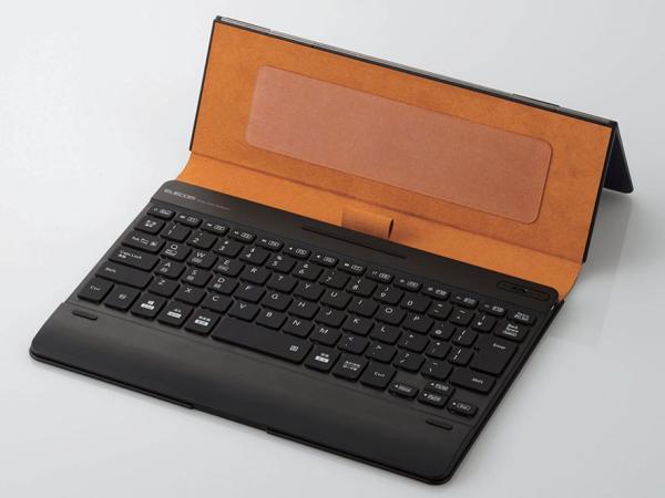 エレコム Bluetoothキーボード/ケース一体型/無段階角度調整/マルチペアリング対応/バックライト/ヴィーガンレザー/汎用/ブルー(TK-CAP03BU)【smtb-s】