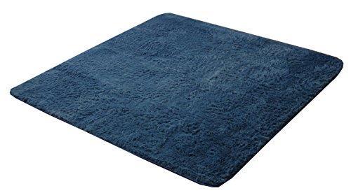 イケヒコ・コーポレーション ラグ カーペット 3畳 シャギー 無地 北欧 マイクロファイバー 『ミスティ—IT』 ブルー 約200×250cm (ホットカーペット対応)【smtb-s】