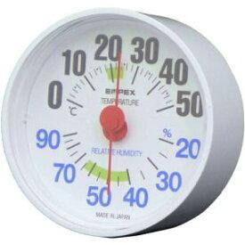 エンペックス気象計 温度湿度計 ルシード 置き掛け兼用 日本製 ホワイト TM-2651【smtb-s】