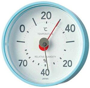 EMPEX エンペックス気象計 温度湿度計 プレーン温湿度計 置き掛け兼用 日本製 エアブルー TM-7816