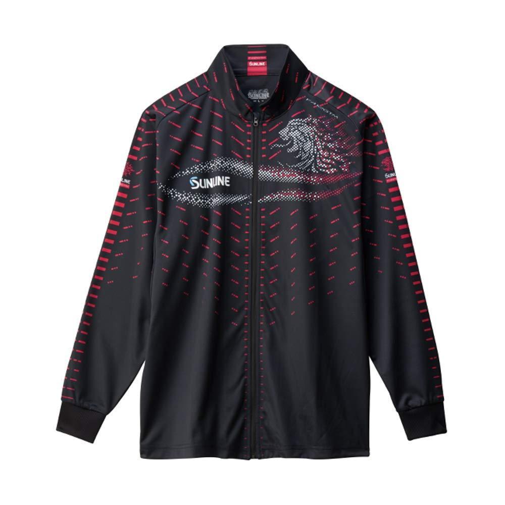 サンライン フルジップアップシャツ SUW-5568HT ブラック 3L【smtb-s】