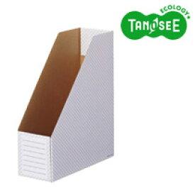 TANOSEE ボックスファイル(ホワイト) A4タテ 背幅100mm ブルー 10冊入(TWBF-A4S-B)【smtb-s】