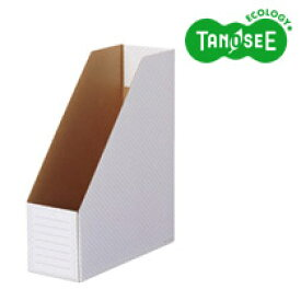 TANOSEE ボックスファイル(ホワイト) A4タテ 背幅100mm グレー 10冊入(TWBF-A4S-M)【smtb-s】