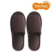 TANOSEE 外縫いスリッパ ブッチャー 大きめL ブラウン(DATM020LBR)【smtb-s】