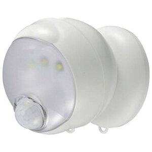 オーム電機 360センサーライト(電池式/単3乾電池×3本使用/ホワイト)