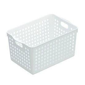 イノマタ化学 ストックバスケット/収納ボックス/整理カゴ(ディープ) ホワイト サイズ:14.9×22.9×高さ14cm