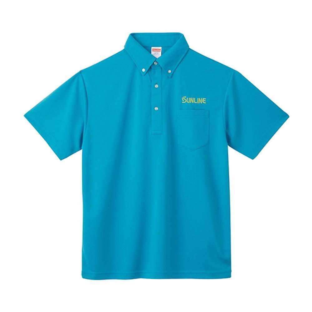 サンライン ドライポロシャツ SUW-1382P ターコイズ M【smtb-s】