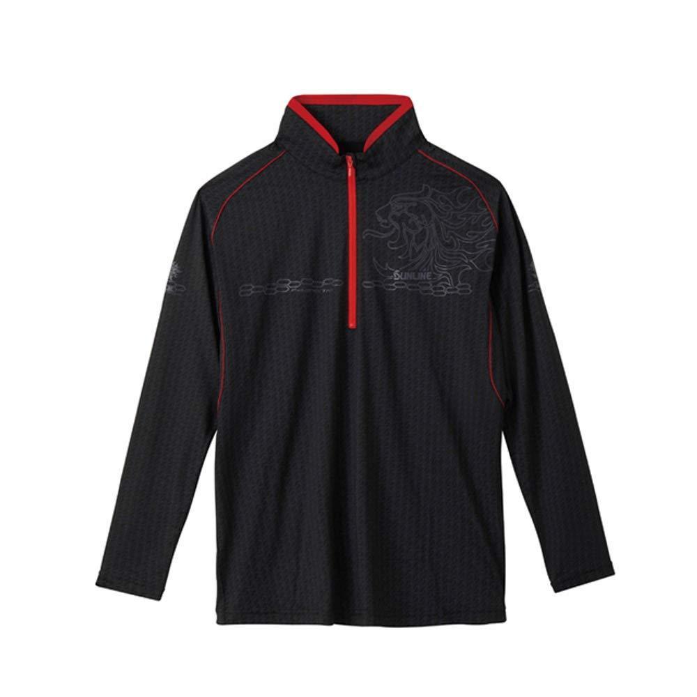 サンライン テラックス クールシャツ(長袖) SUW-5570CW ブラック L【smtb-s】
