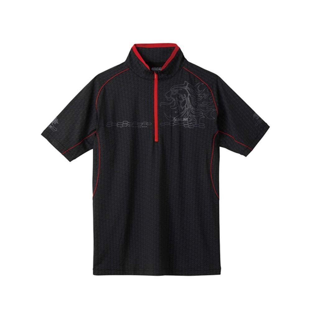 サンライン テラックス クールシャツ(半袖) SUW-5571CW ブラック L【smtb-s】