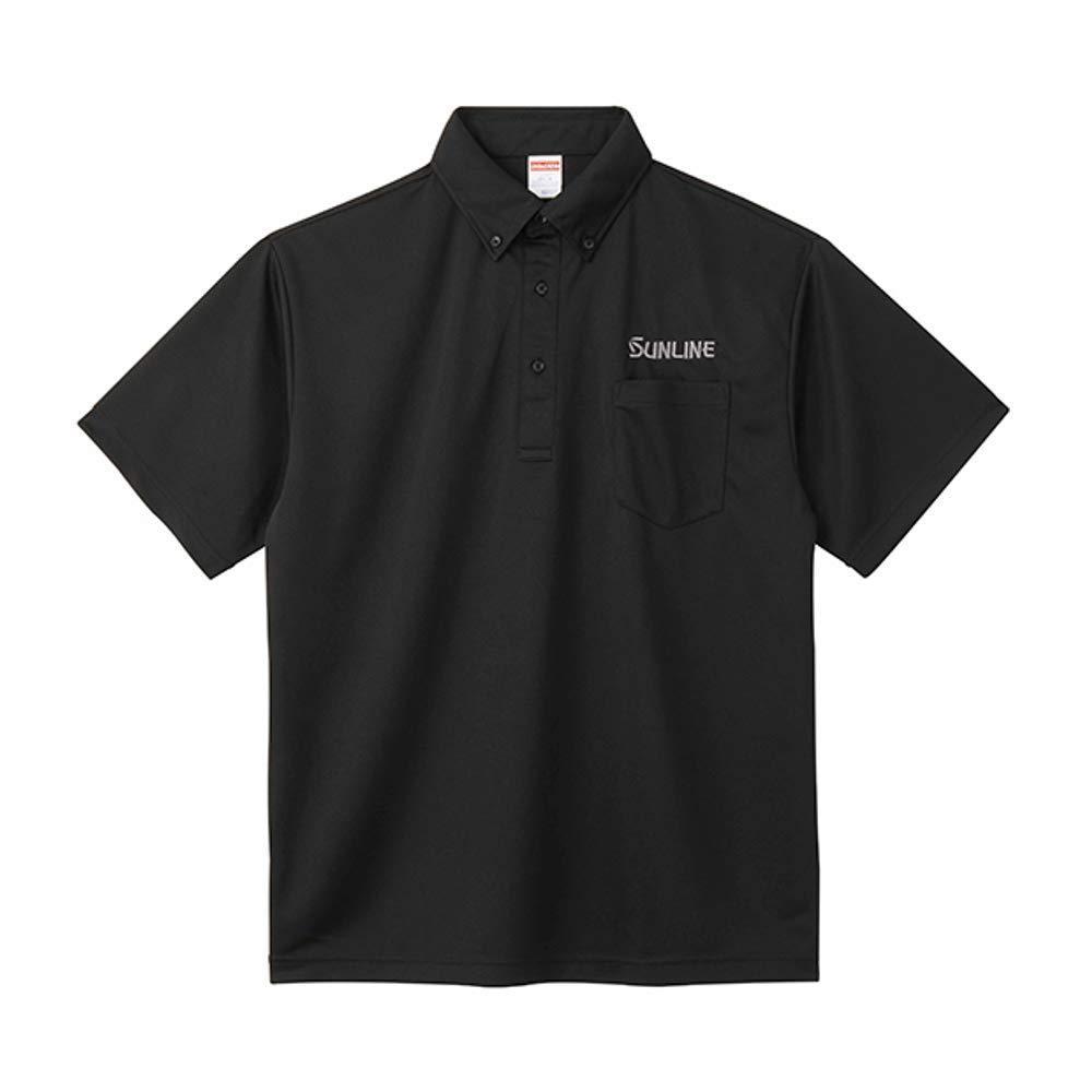 サンライン ドライポロシャツ SUW-1382P ブラック L【smtb-s】