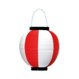 ササガワ ポリ提灯 赤白 40−7037【入数:5】【smtb-s】