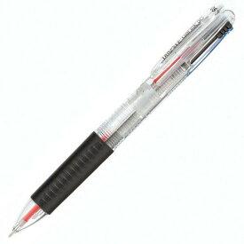 TANOSEE ノック式ゲルインク3色ボールペン (軸色 クリア)【入数:10】【smtb-s】