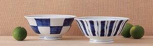 西海陶器 染付モダン ペアラーメン鉢 V17-14115
