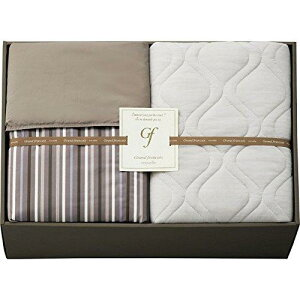 Gift Box グランフランセヌーベル ウォッシャブルケット&クール接触冷感敷パット ブラウン