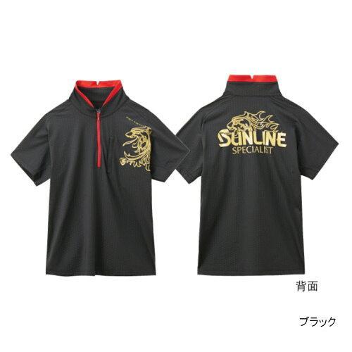 サンライン テラックスクール ドライシャツ(半袖) SUW-5567CW ブラック M【smtb-s】