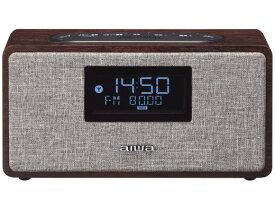 株式会社アイワ アイワ 日付&時計表示機能&FMラジオ付Bluetoothスピーカー ブラウンウッド FR-BD20 1台【smtb-s】