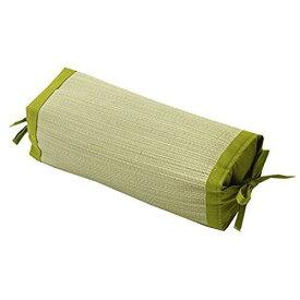 イケヒコ・コーポレーション(IKEHIKO) 枕 まくら い草枕 消臭 ピロー 国産 無地 高さ調整 『スリム 角枕』 グリーン 約30×15cm【smtb-s】