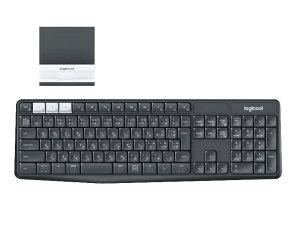 LOGICOOL ロジクール K370s PC/スマホ/タブレット対応 マルチデバイス Bluetooth ワイヤレス キーボード (スタンド付属)
