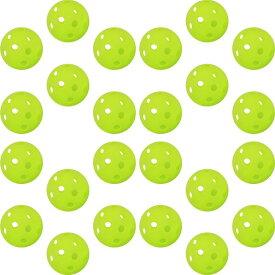 GP (ジーピー) 野球バッティングトレーニングボール 穴あき PE素材 蛍光緑 42mm 24個入り 品番:35356【smtb-s】
