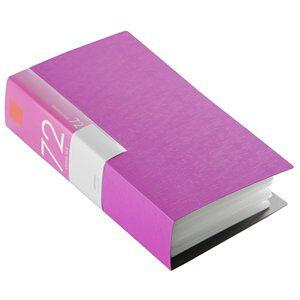 バッファロー CD&DVDファイルケース ブックタイプ 72枚収納 ピンク(BSCD01F72PK)