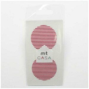 カモ井加工紙 MTCDS026 mt CASA seal(CASAシール) (ボーダー・いちご) MTCDS026