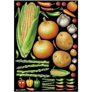 のぼり屋工房 デコシールA4サイズ 野菜アソート2 チョーク 40276 (1389785)