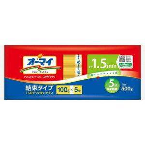 日本製粉 オーマイ スパゲッティ 結束タイプ 1.5mm 500g(100g×5束)